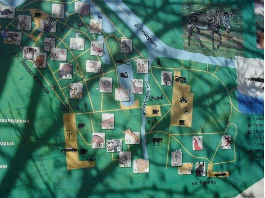 Карта ростовского зоопарка